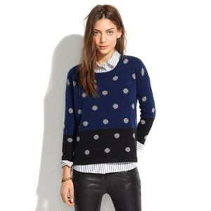 Madewell color-block dotted crewneck sweater G27